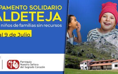 Campamento solidario en Valdeteja